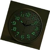 Wall Clock Non Ticking Silent Night Lights Large Number