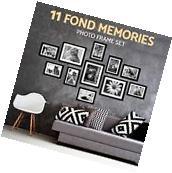 11 Pcs Wall Hanging Photo Frame Set Black Picture Display
