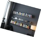 Wall Mount Modern U Shaped Floating Shelves Bookcase Metal