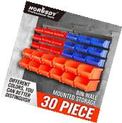 Wall Mounted Storage Bins Parts Rack 30 Bin Organizer Garage