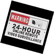 Warning 24 Hour Online Remote Video Surveillance Sign