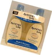 Aveeno Baby Wash & Shampoo 12 Fl Oz Twin Pack