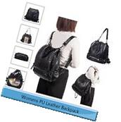 Fashion Women's Washed PU Leather Tote Travel Satchel