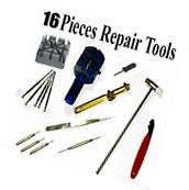 16pcs WATCH Repair Back Opener Kit Tools Band Pin Strap Link