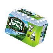 Poland Spring Natural Spring Water, 8 oz Bottle, 48 Bottles/