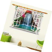 Waterfall Kid Room 3D Window Decal Removable Wall Stickers