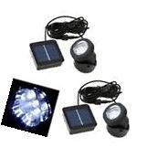 2x Waterproof Solar Panel LED Landscape Light Spotlight Garden Pool Outdoor US