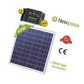 45W Watt 12V Solar Panel + PWM 10A Charge Controller