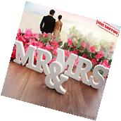 Wedding Centerpieces Decorations MR & MRS Wooden Letters