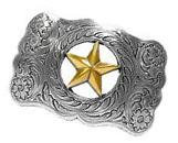WESTERN COWBOY COWGIRL TEXAS RANGER STAR TROPHY BELT BUCKLE