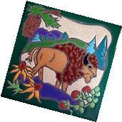 Western Home Decor Ceramic Tile Kitchen Trivet Coaster Wild
