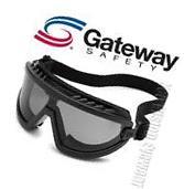 Gateway Wheelz FOAM Padded Anti Fog Smoke Lens Black Safety