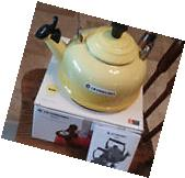 Le Creuset Whistling Tea Kettle 1.7 Quart Sun Yellow
