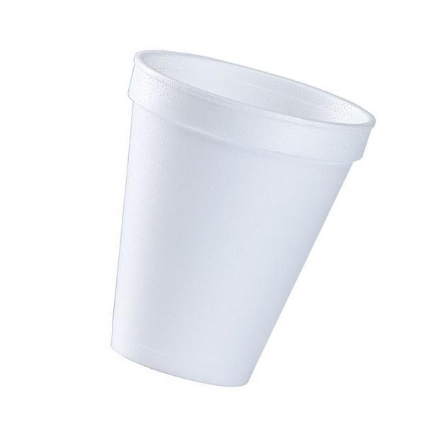 12 Oz. White Disposable Drink Foam Cups Hot and Cold Coffee Cup