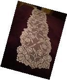 New White lace Dutch Garden design Table Runner 72 x 14