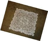 New White lace Dutch Garden design Table Topper 30 x 30