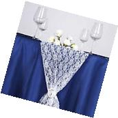 "WHITE Floral Lace 14"" x 108"" TABLE RUNNER Wedding Party"