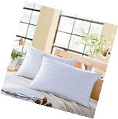 Snowman 90% White Goose Down Filled Standard Queen Size Pillow Insert,Set of 2