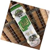 New Creature White/Green Tall Can Cruzer Complete Skateboard