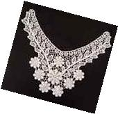 New White Lace Embroidered Neckline Neck Collar Trim Clothes