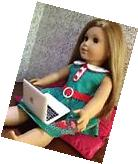 """White MacBook Air Laptop Computer for 18"""" American Girl Doll"""