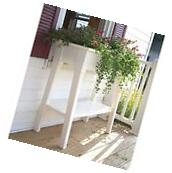 "White Outdoor Patio 36"" Deluxe Large Garden Planter Flower"