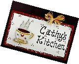 White Sign COFFEE CUP Personalized Name KITCHEN Decor