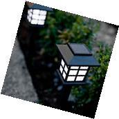 Set of 6 White LED Outdoor Solar Powered Lantern Garden Lawn