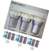 """5"""" Whole House 3 clear stage filtration water system 3/4"""""""