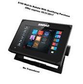 "Simrad Wi-Fi GO7 XSE 7"" Multi-touch ChartPlotter/Fishfinder"