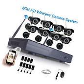 8CH HD Wireless NVR IR-CUT Wifi IP Camera Home Security