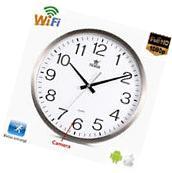 Full Wifi 720P HD Spy Hidden Hang Wall Clock Camera Digital