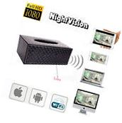 WIFI 1080P HD Spy Tissue Box Hidden Video Camera Motion DVR