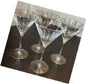 Williams Sonoma Dorset Martini Glasses Set of 4 New