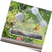 Window Bird Feeder Clear Suction Acrylic Wild Seed Squirrel