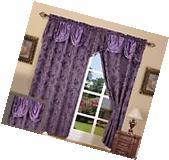 "Window Curtain Drape Set Blackout Floral Walleye 55""x84"""