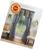 Window Curtain Set Valance 2 Panel 5 Piece Home Blackout