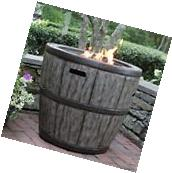 """Wine Barrel  27"""" Gas Fire Pit with Concrete Base & table top"""