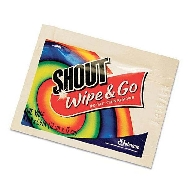 JohnsonDiversey Shout Instant Stain Remover Wipes,