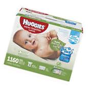 HUGGIES Baby Wipes Natural Care Plus FREE CARRYING CASE