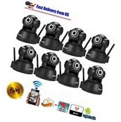 8X Wireless IP Camera WiFi Security Network CCTV Home System