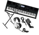 Casio WK-7600 76-key Workstation Keyboard Bundle with Stand