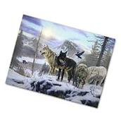 Wolves Snow Winter Animal Canvas Art Picture Prints Wall