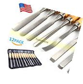 Wood Carving Hand Chisel Tools 12 Piece Set Woodworking