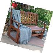 Wood Glider Bench Garden Furniture  Deck Patio Outdoor Yard