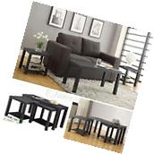 Coffee Table Set 3 Piece Wood Living Room Furniture Accent