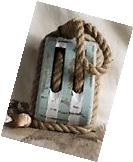 NEW~Large Wood & Rope Block & Tackle Decor Pulley Nautical