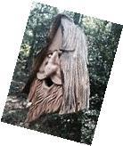 Wood Spirit rustic Hand Carved Cedar Bird House Birdhouse