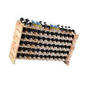 New 72 Bottle Wood Wine Rack Stackable Storage 6 Tier