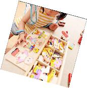 Wooden Baby Bear Changing Clothes Puzzle Set Children Kids